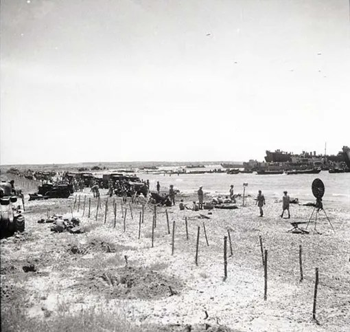 The landing in Pachino, Sicily, July 10th, 1943