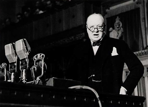 """Some chicken! Some neck!"" utters Winston Churchill to the House of Commons in Ottawa, December 30th, 1941, answering to those who believed Great Britain would fall like a chicken with its neck wrung."
