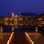 Guangzhou architecture photographer Interlaken hotel night view