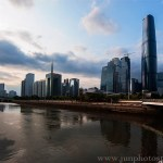 cityscape and highrise buildings in Tianhe District professional architectural photography Guangzhou