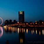 Tianjin Eye night view architectural photography China