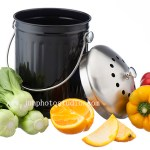 China life setting product photography compost garbage pail with vegetable
