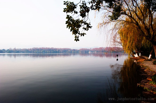 landscape photo lake in fall