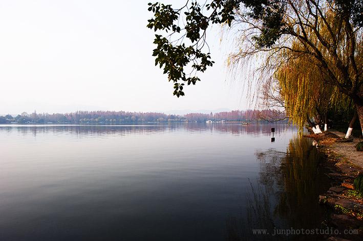 landscape photo lake in fall