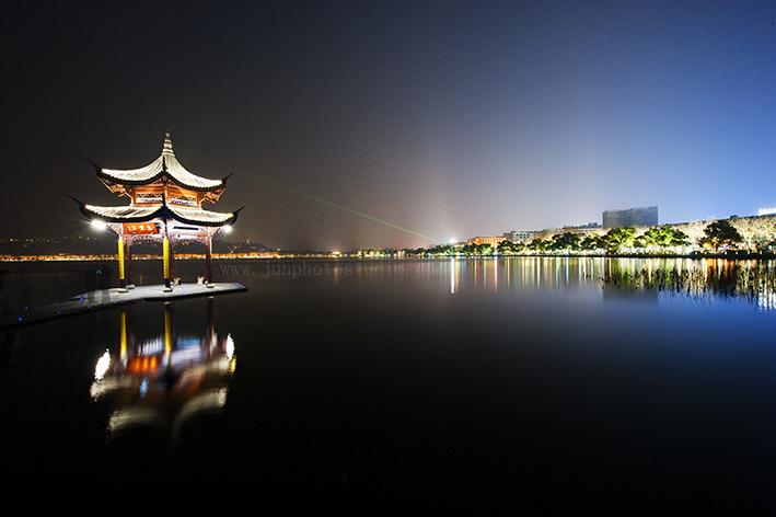 travel photographer WestLake night view