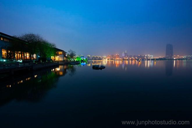 night view JinJi lake SuZhou
