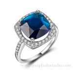 Shenzhen jewelry photographer blue diamond ring