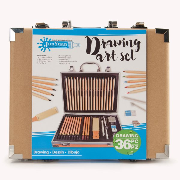 36pc Craft Paper Drawing Art Set