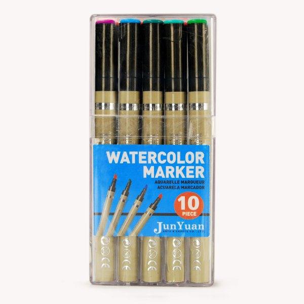 10pc Acrylic Case Watercolor Marker Set