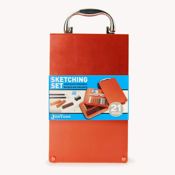 21pc Aluminum Flip Case Sketching Art Set