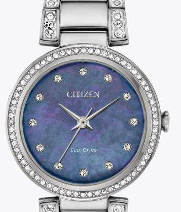 citizen eco drive ladies watch with crystals