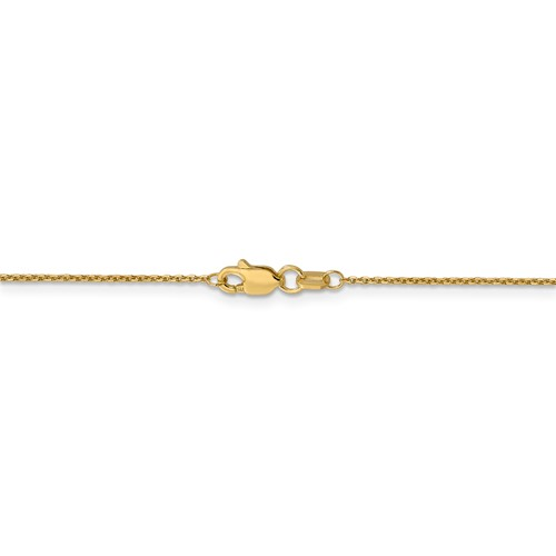 """14kt 16"""" 0.95mm d/c cable chain"""