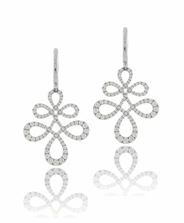 14kt diamond swirl dangle earrings Eloise