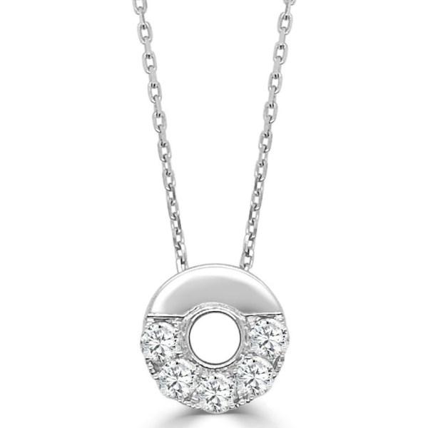 14kt small half Nebula diamond necklace