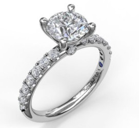 round diamond engagement ring mounting