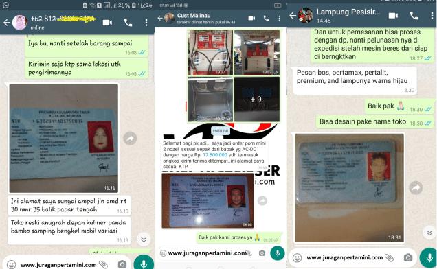 Bukti Deal Pertamini Kabupaten Nunukan