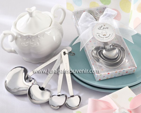 Florist package measuring spoon
