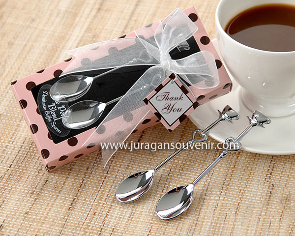 Pink black coffee spoon