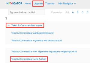 Navigator archief