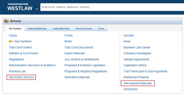 How to find e-books in Westlaw - JURBIB