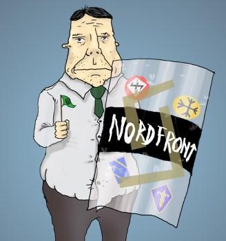 Nazist med sköld