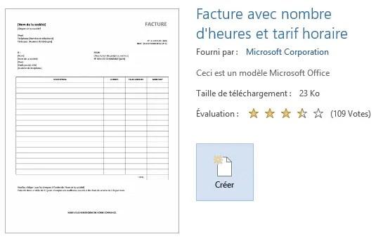 Modèles Word Pour Factures