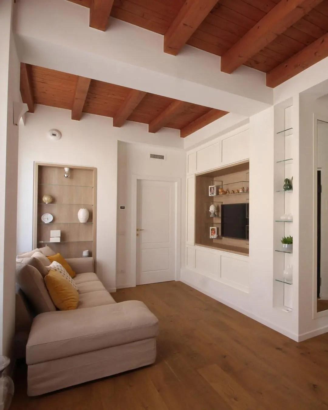 Parete attrezzata soggiorno moderna cemento roi gihome ® mobile porta tv design. Arredamento In Stile Country Chic