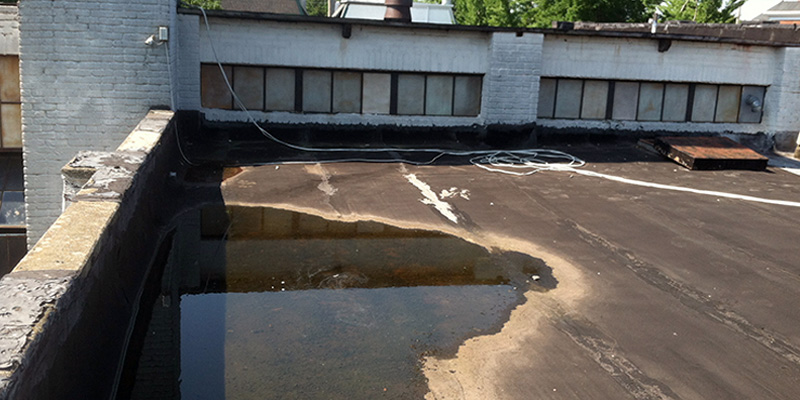 Ponding water on roof system