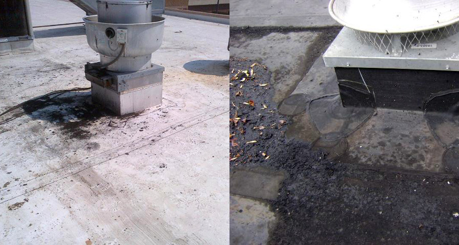 grease-damage-on-roof