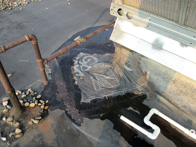 Ice and water shield used to repair an EPDM roof