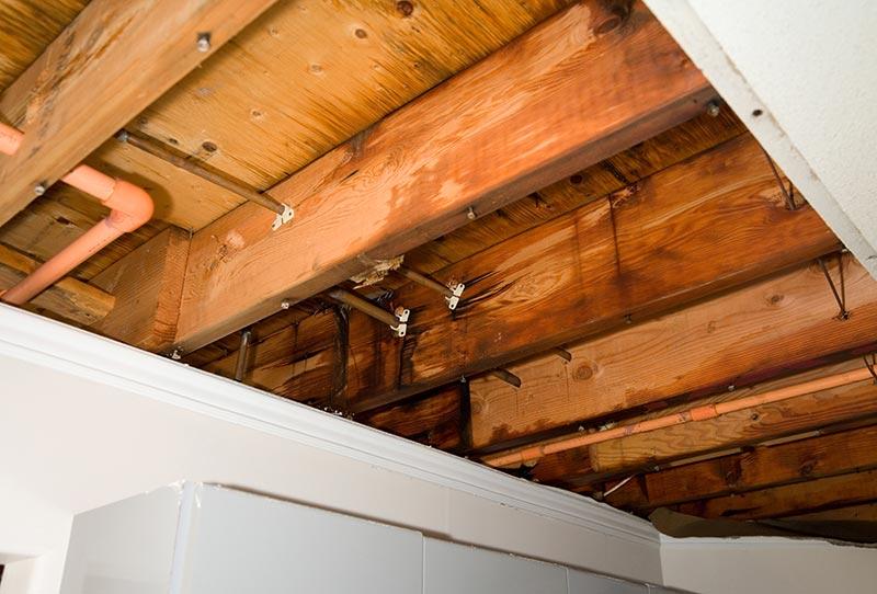 Roof Leak Caused by Plumbing