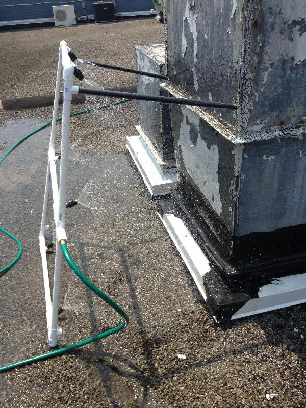 Roof Leak Test Spray Rack