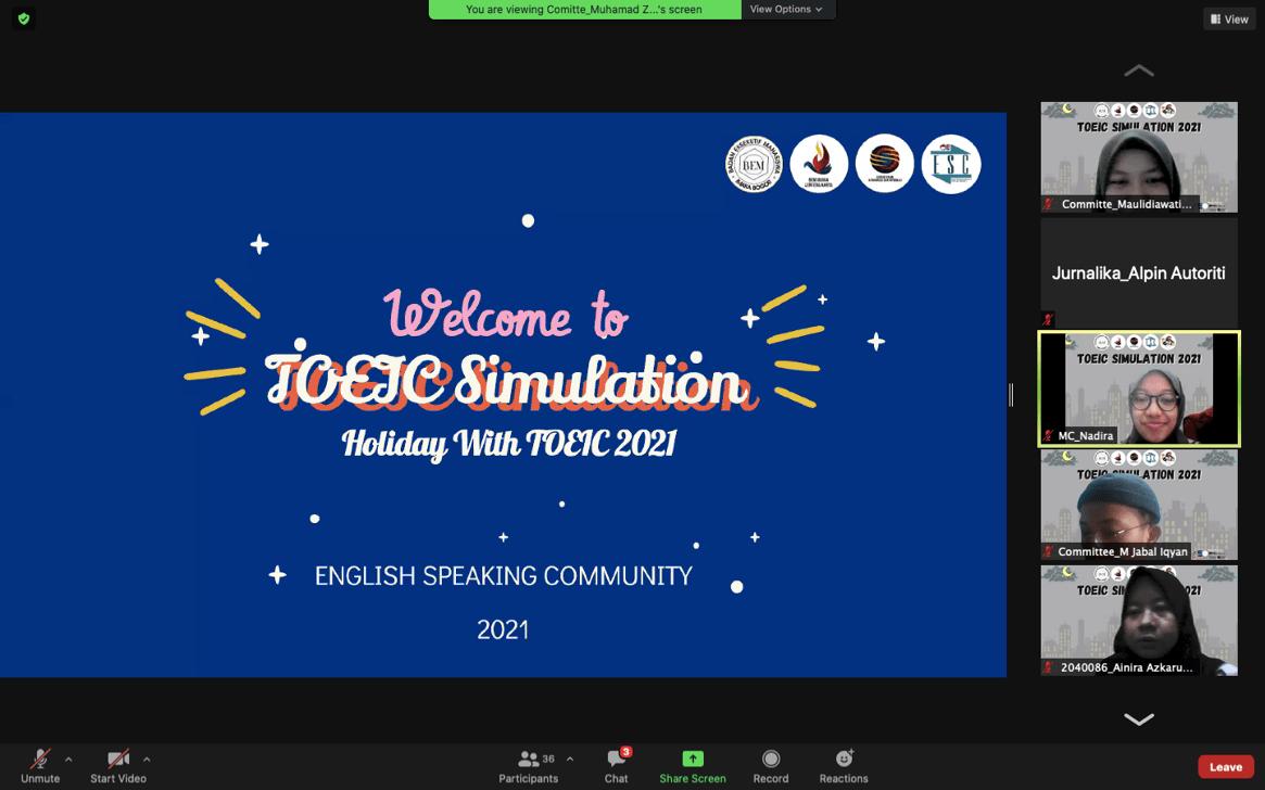 Toeic Simulation: Acara Puncak Dari Rangkaian Holiday With Toeic ESC Politeknik AKA Bogor