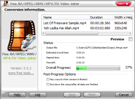 4. Aplikasi menggabungkan video pc - Free_AVI_MPEG_WMV_MP4_FLV_Video_Joiner