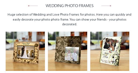 Bingkai Photo Terbaru wedding photo frame