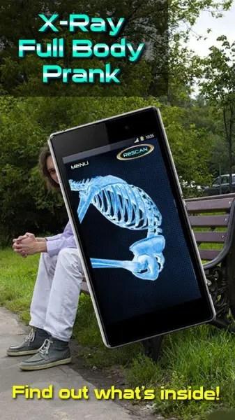 aplikasi kamera tembus pandang X-Ray Full Body Prank