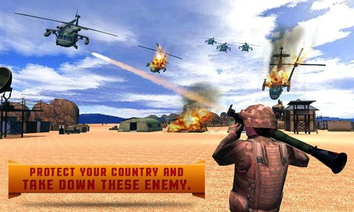 Game perang helikopter Army Helicopter Counter Battle