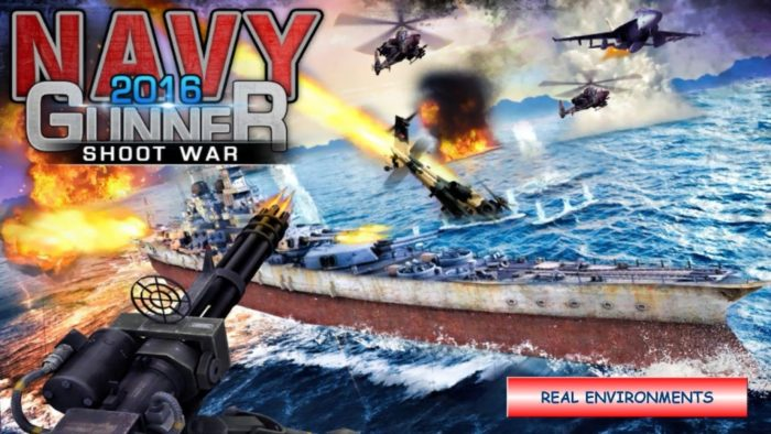 Game perang helikopter Navy Gunner Shoot War 3D