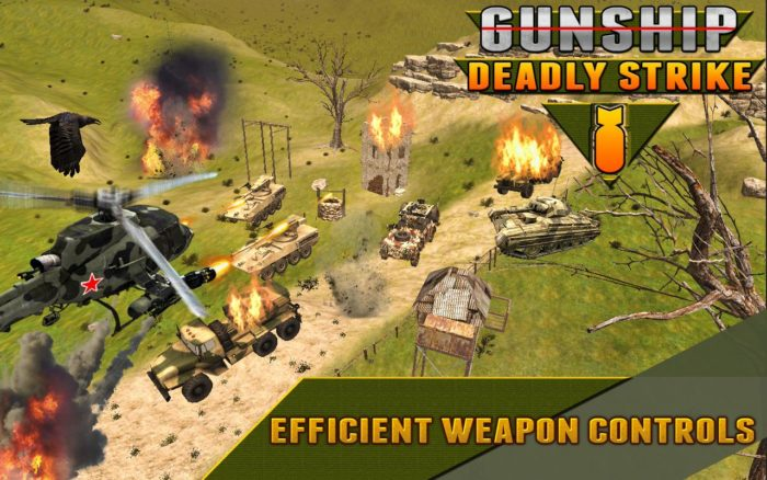 Game perang helikopter android Gunship Deadly Strike