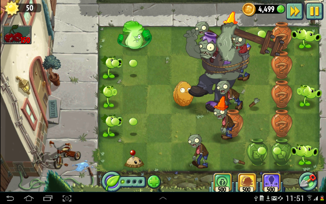 Game perang offline android Plants vs Zombies 2