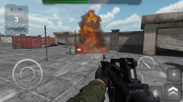 Game perang offline android Trigger Fist FPS