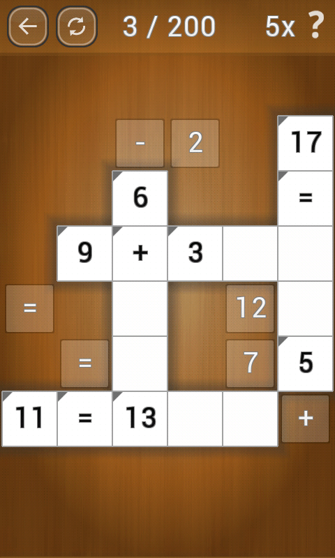 Game teka teki android terbaik Math Pieces
