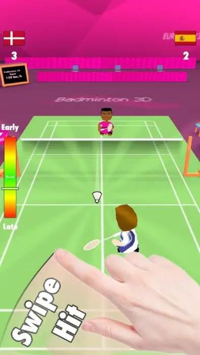 game badminton Smash 3d