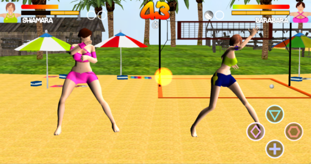 Game Bola Voli Android Terbaik Gratis Volleyball Beah Girl Fight