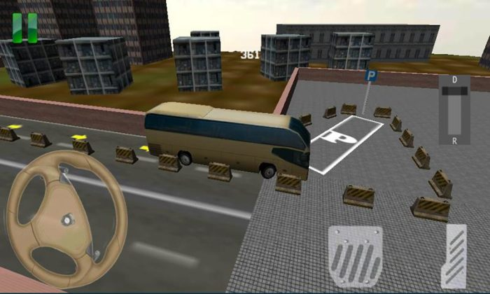 game parkir bus panjang