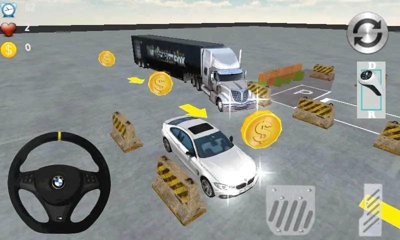 game parkir bus, mobil dan truk