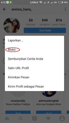 Cara Blokir Follower Instagram