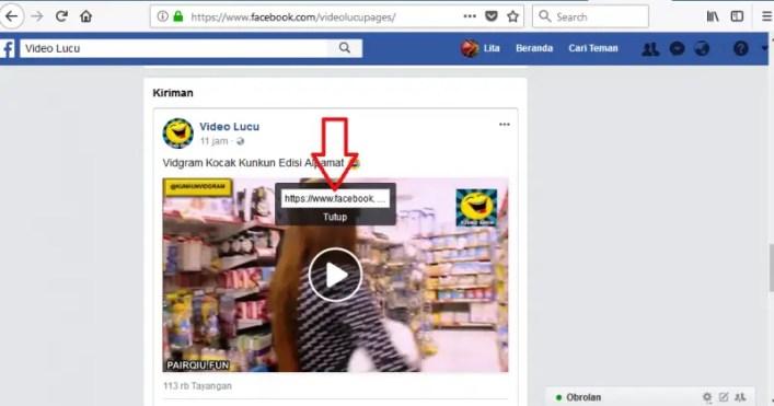 copy url video facebook
