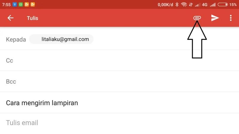 Cara Mengirim Email Gmail Beserta File Lewat Hp Android