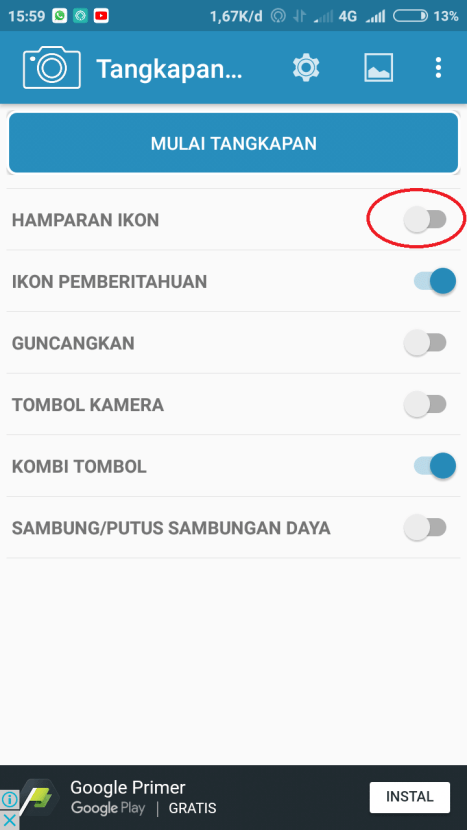 Mengambil Screenshot Layar di Samsung